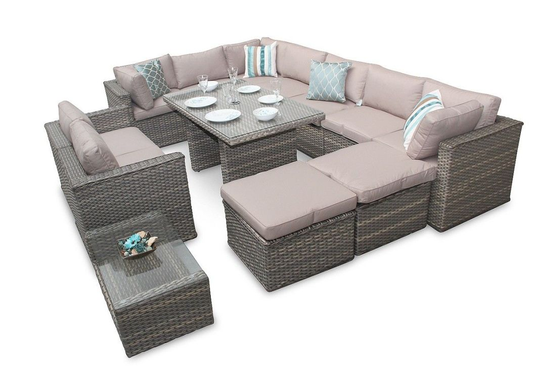 Rattan Sofa Dining Sets Furniture Corner Garden Manchester Natural