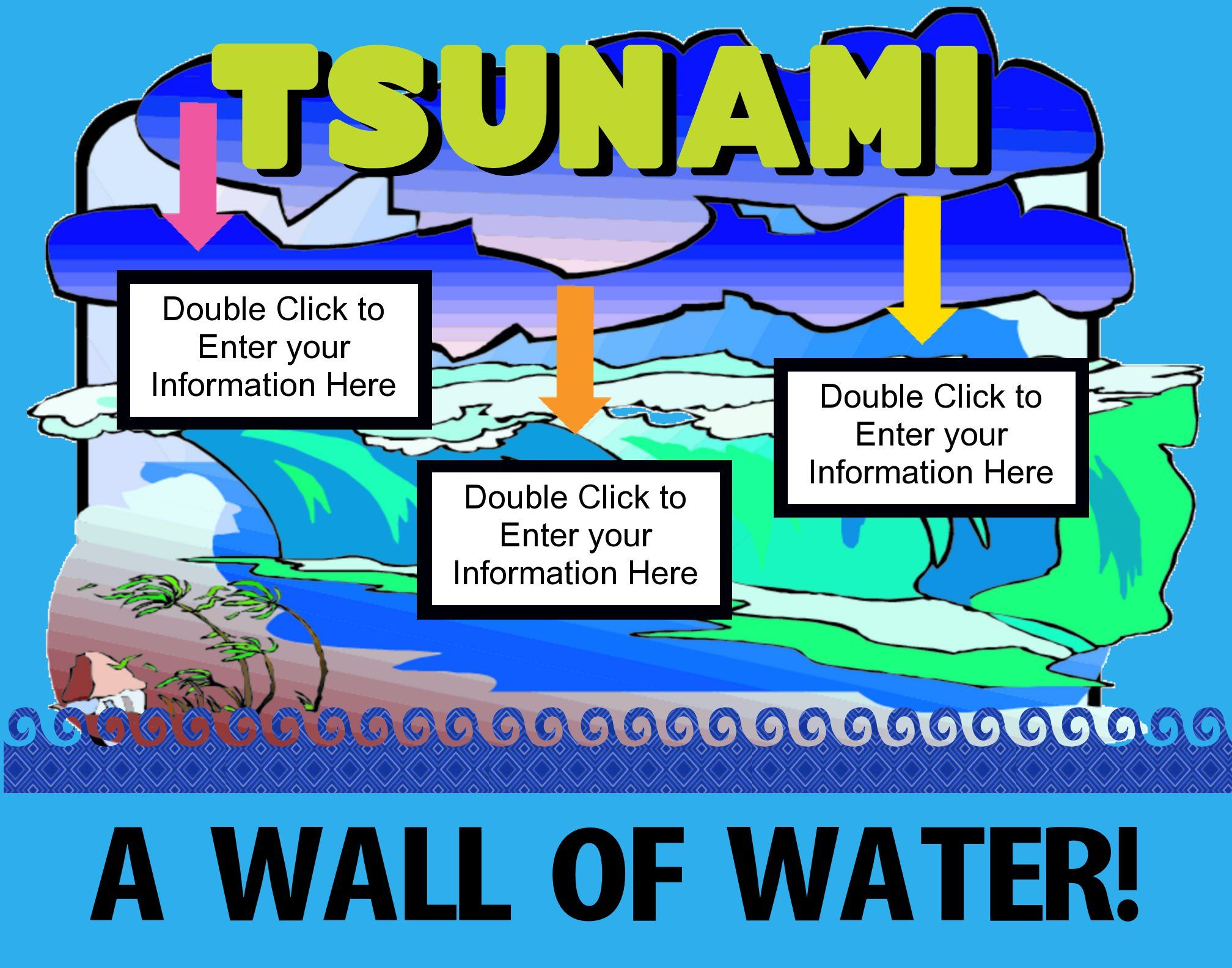 Make A Science Fair Project About Tsunami Wave Ocean Science Poster Ideas For Kids