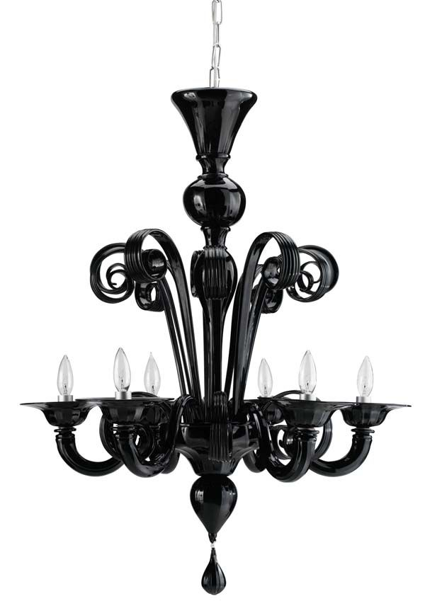 Hanging In The Center Of My Manhattan Brownstone Living Area Is This Dramatic High Black Murano Style Venetian Noir Chandelier