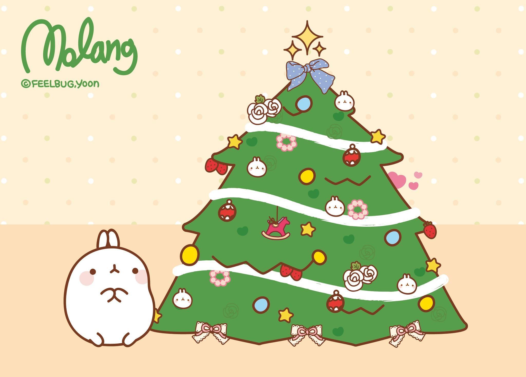 The molang christmas tree