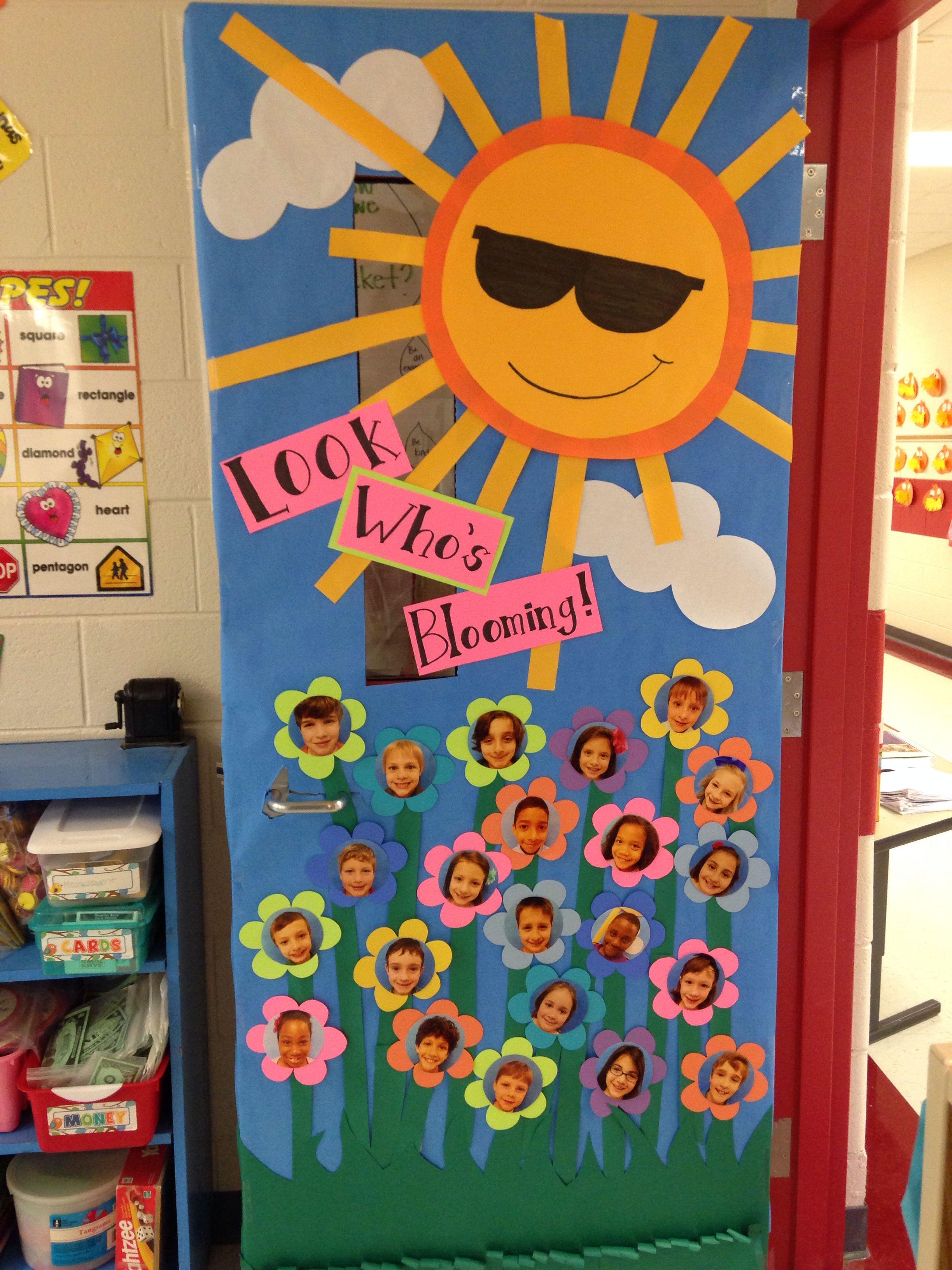 New Classroom Door Decor For Spring School Stuff