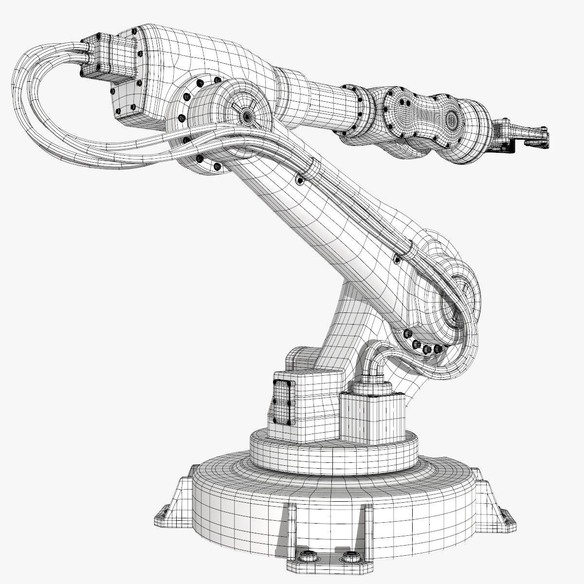 Fbx Industrial Robot Modeled