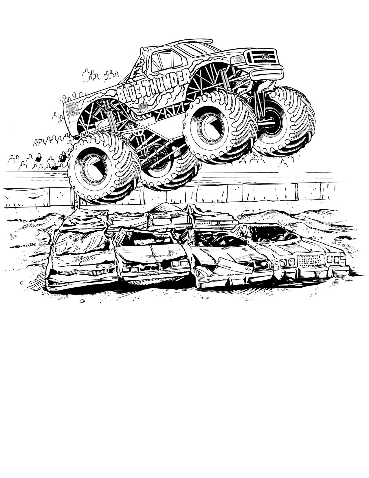 Monster Jam Coloring Pages Birthday party ideas