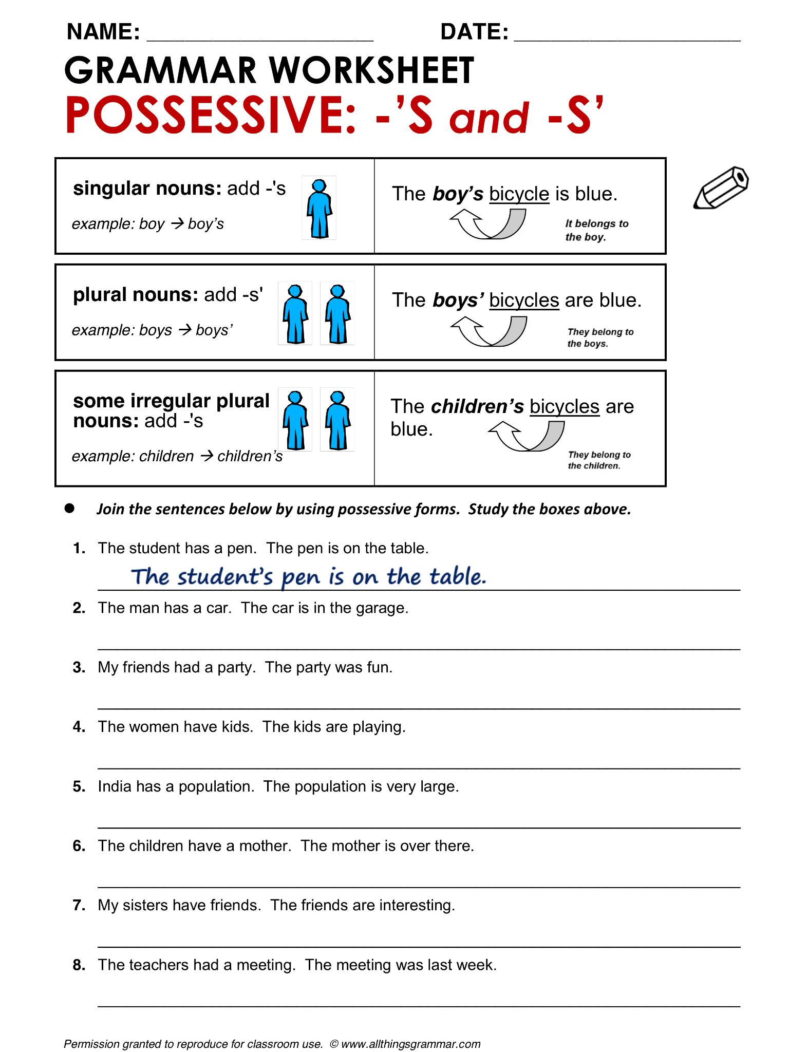 English Grammar Possessive S And S Lthingsgrammar Possessive S S