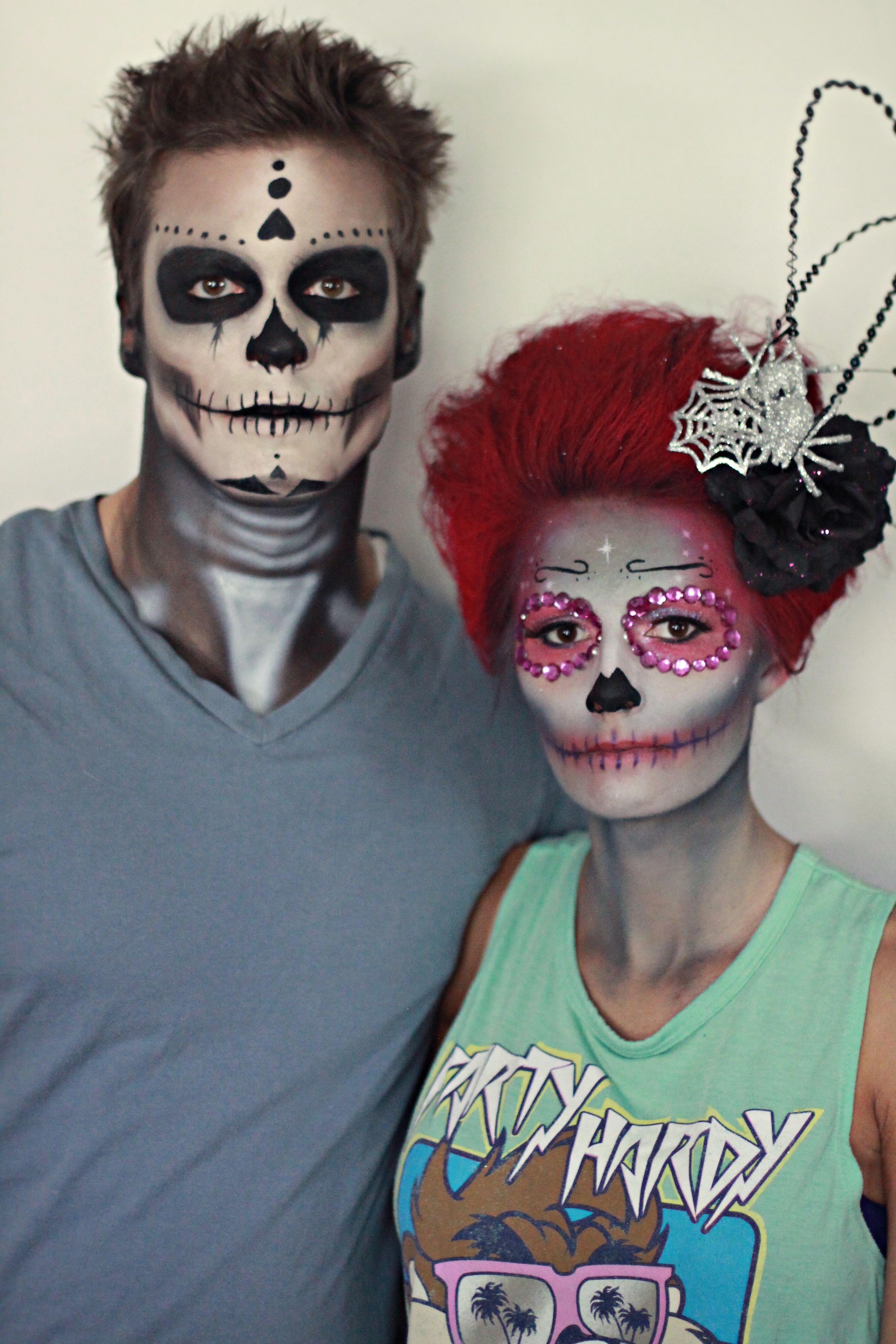 Day of the Dead, Halloween Makeup, Halloween couple