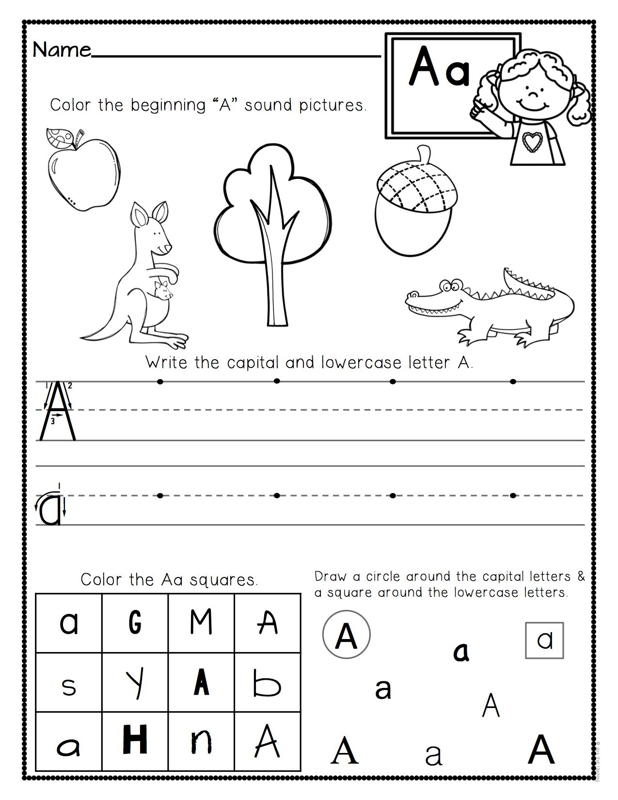 A Through Z Worksheet