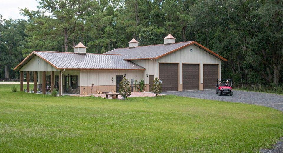 Morton Buildings custom home in Ocala, Florida. Homes