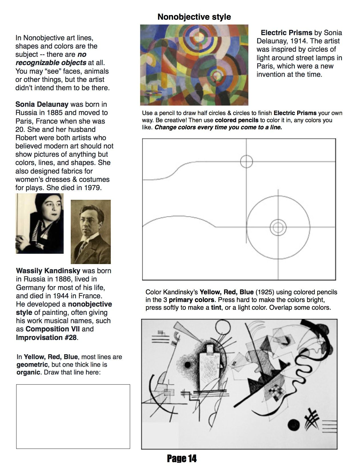 Ms Mo S Art Room 4th Grade Workbook Page About