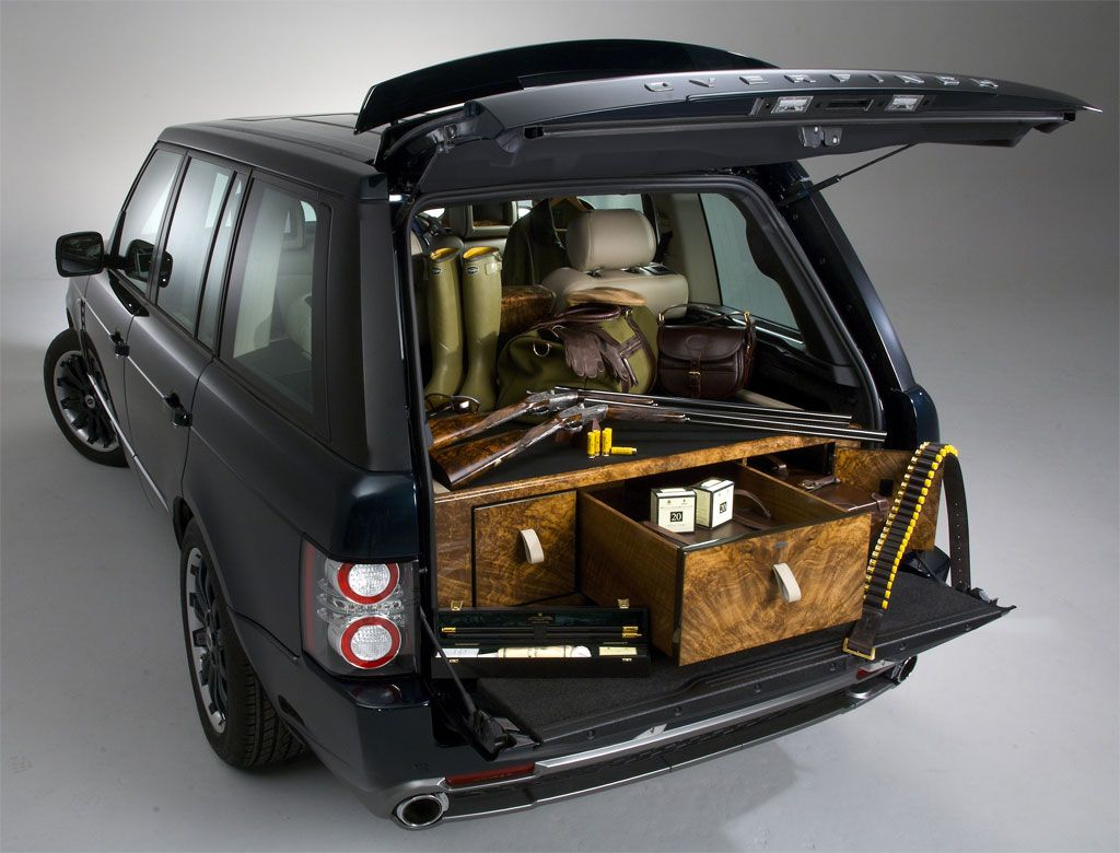 Holland & Holland Range Rover by Overfinch Gun and booze