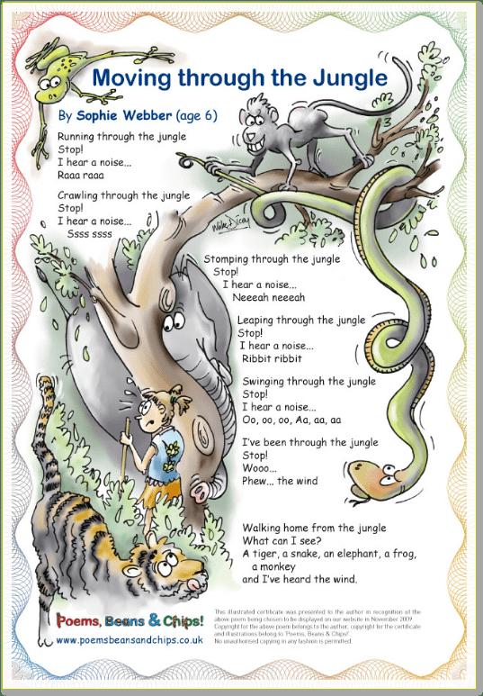 Jungle Poem © Mike Dicey A children's poem explaining
