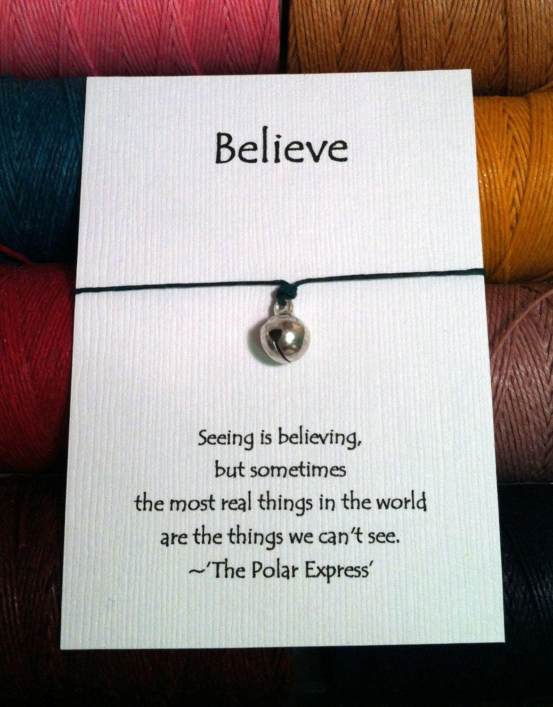 Polar Express Believe Charm Wish Bracelet