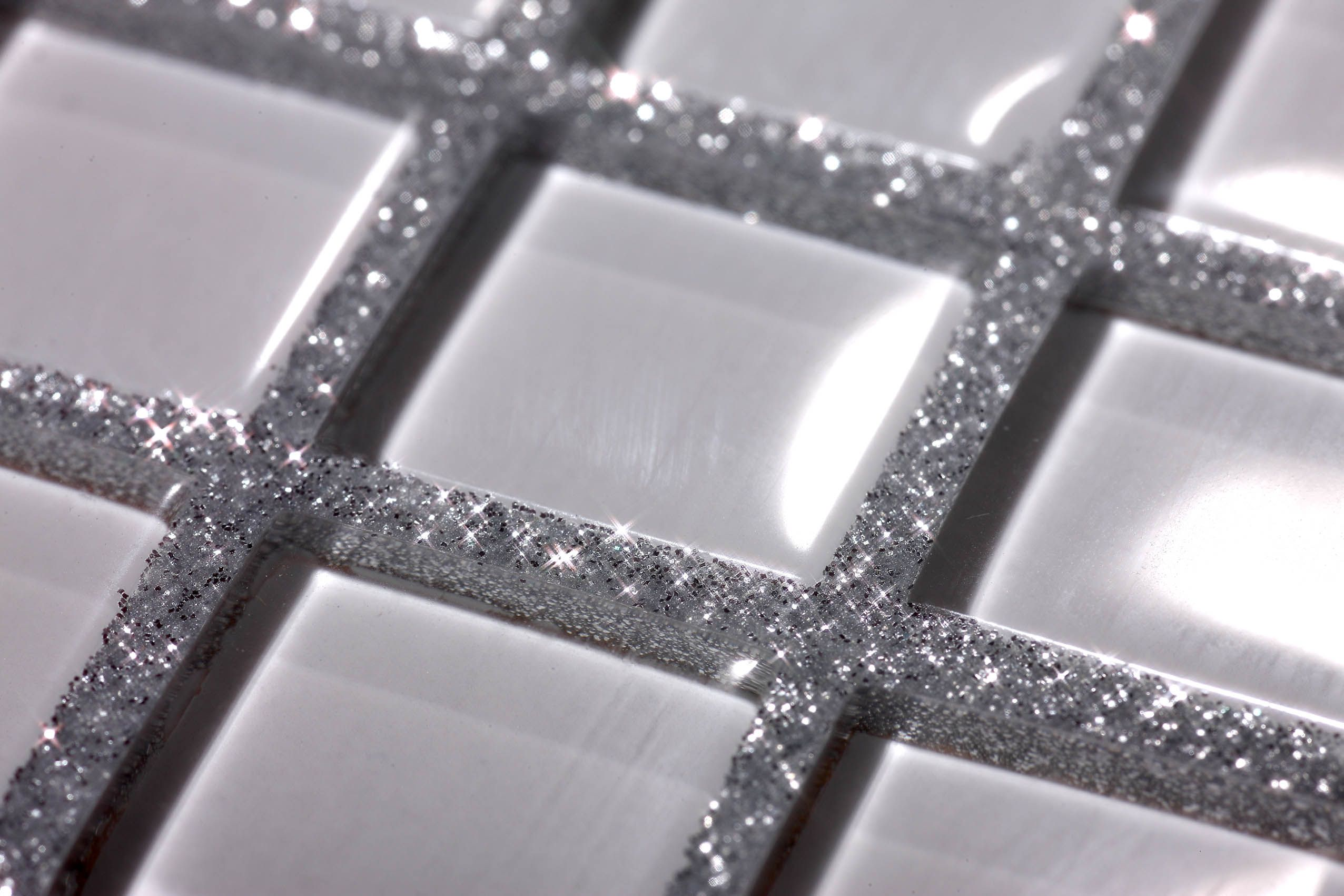 I Rather The Like The Idea Of Glitter In The Tile Grout