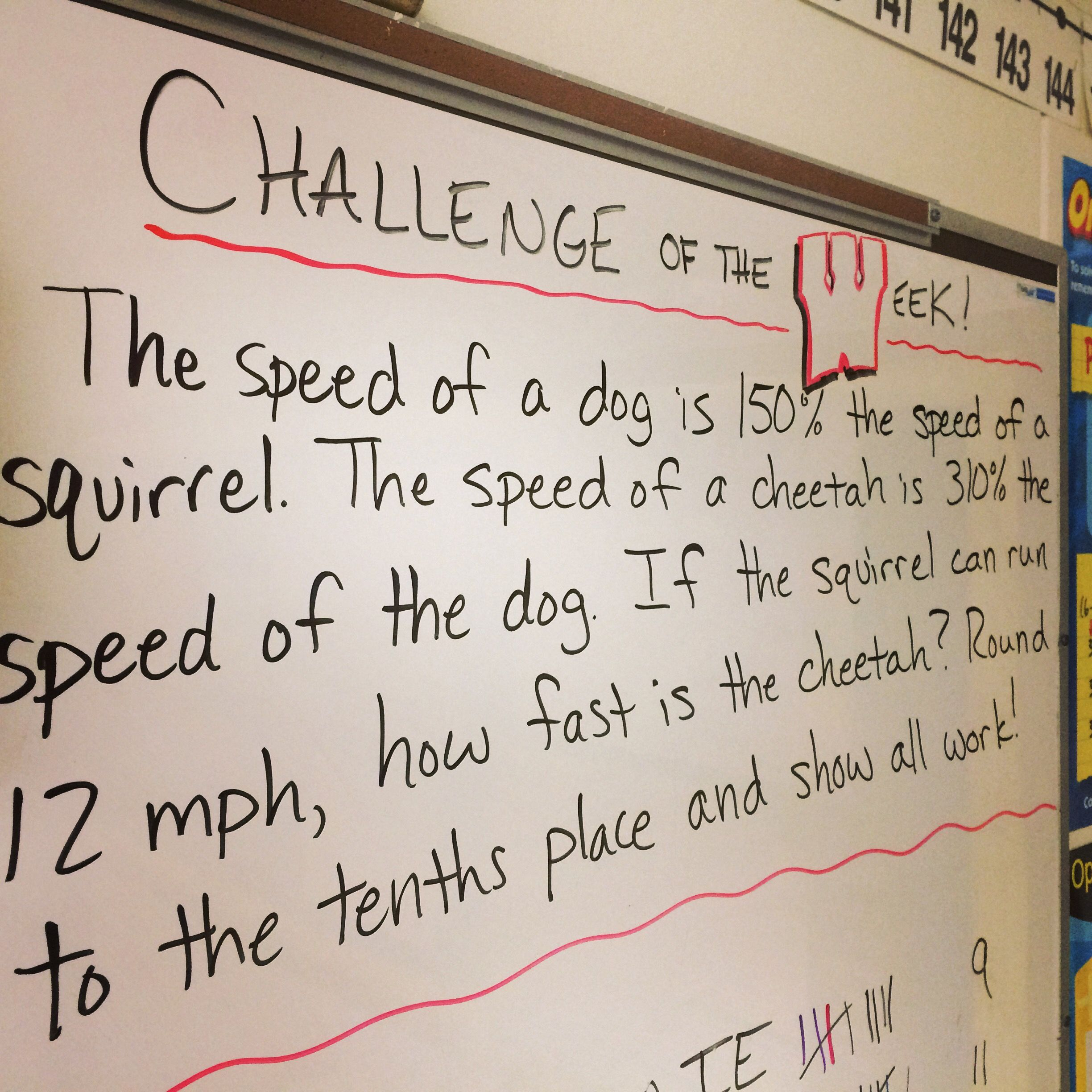 Math Challenge Of The Week For Sixth Grade Math Students Click On The Picture To Be Linked To