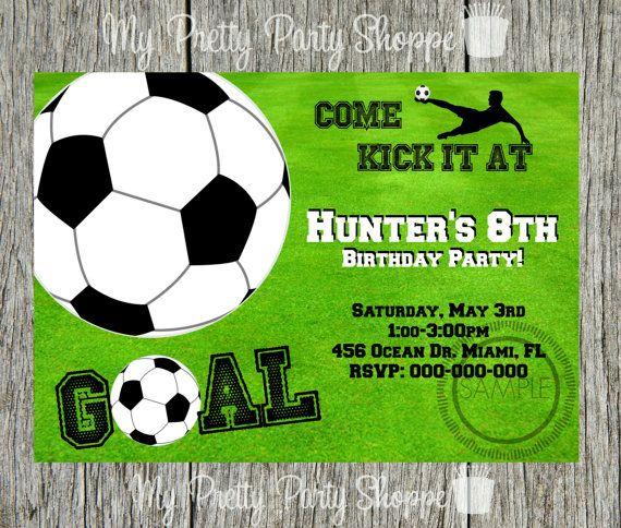 Extraordinario Invitaciones Cumpleanos Futbol Para Imprimir