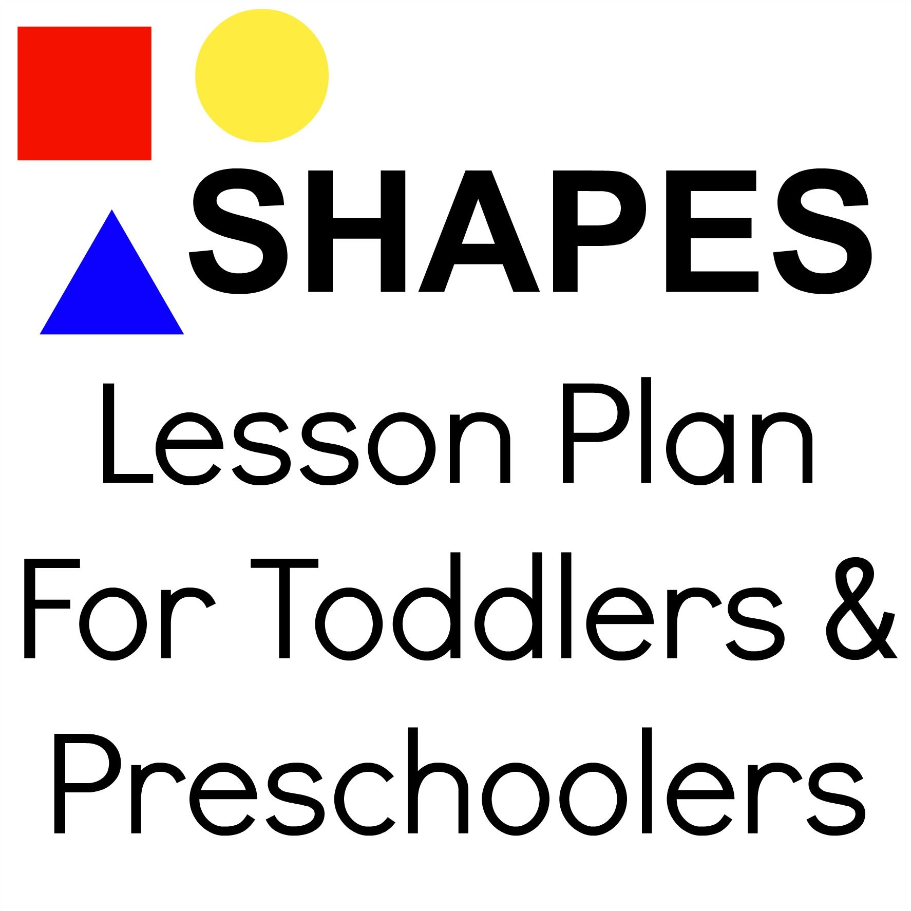 Shapes Lesson Plan For Toddlers Amp Preschoolers Repinned