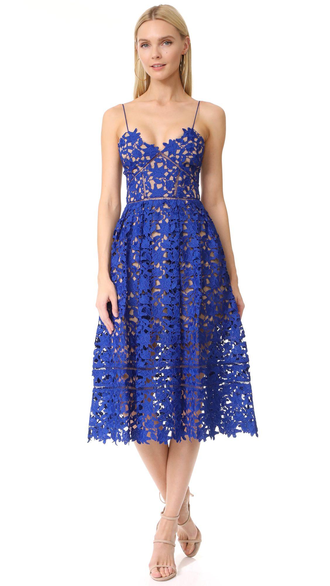 Lace Midi Dresses Lace midi dress, Blue lace and Cobalt blue
