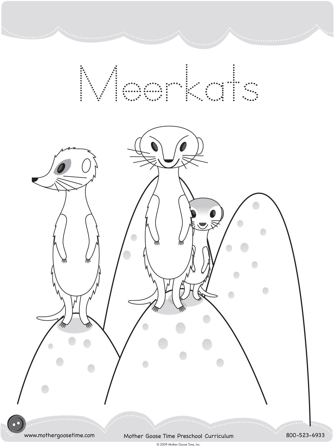 Meerkat Coloring Pages Printable For Fun