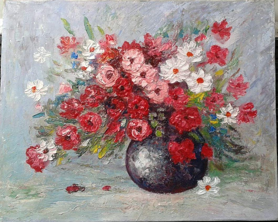 40×50 cm 087838671118, Lukisan Bunga, Lukisan Pensil