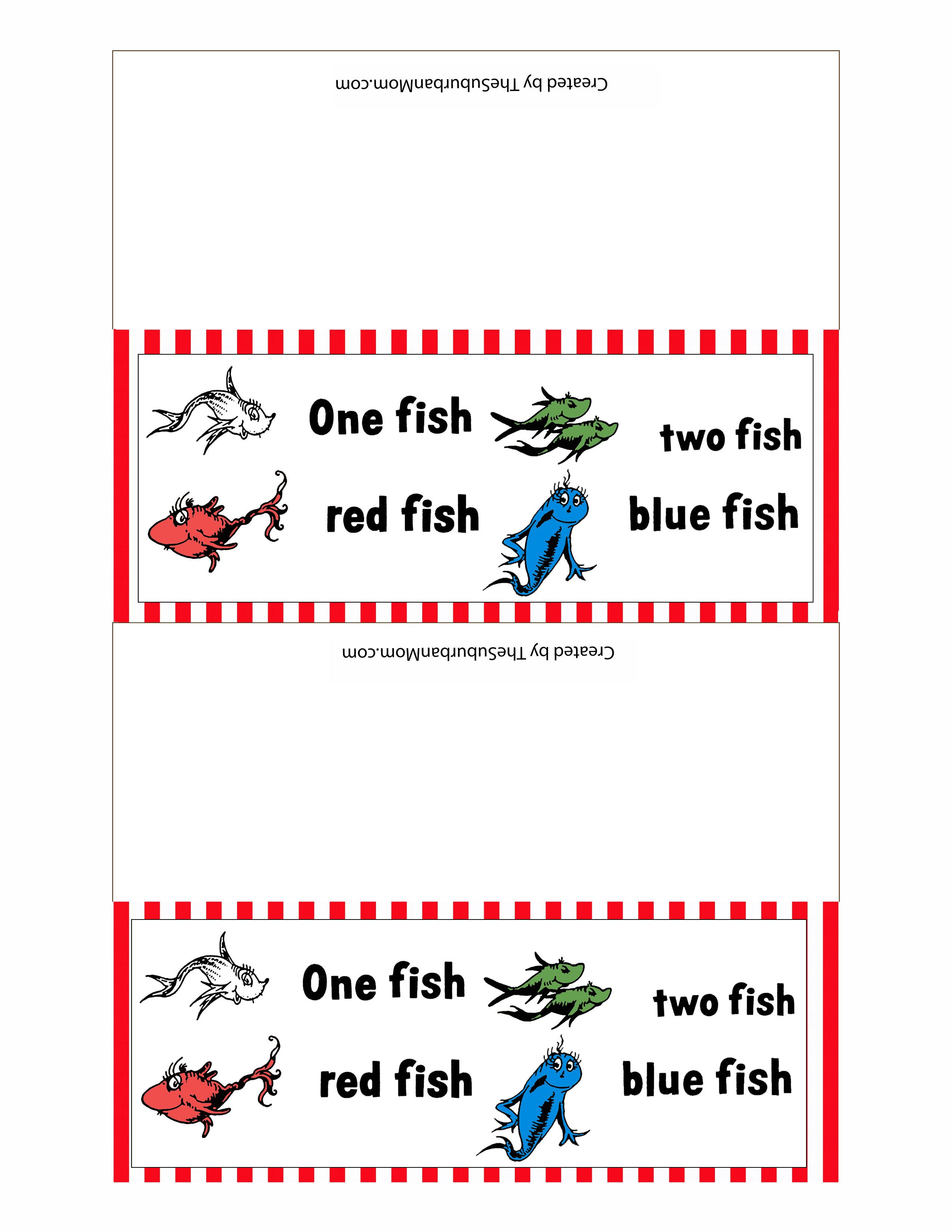 Free Printable Dr Seuss Treat Bag Toppers