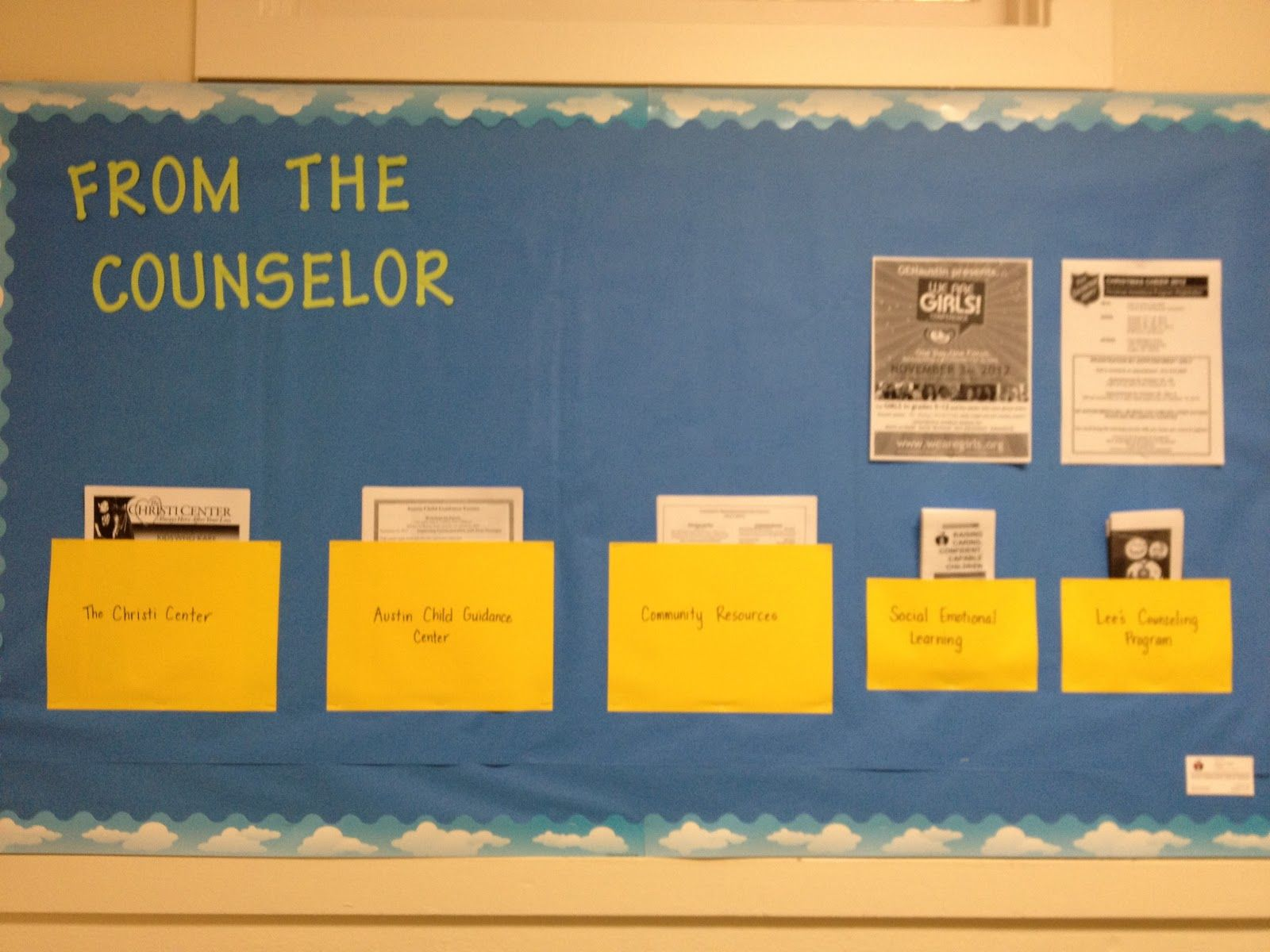 What A Counselor Does Bullinten Board