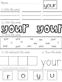 Sight Word Practice For Kindergarten Bundle Packs 1 3