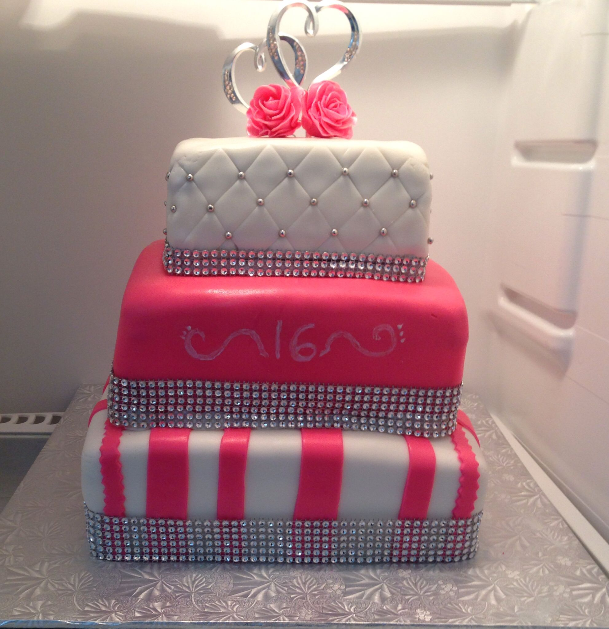 Three Tier Birthday Cake