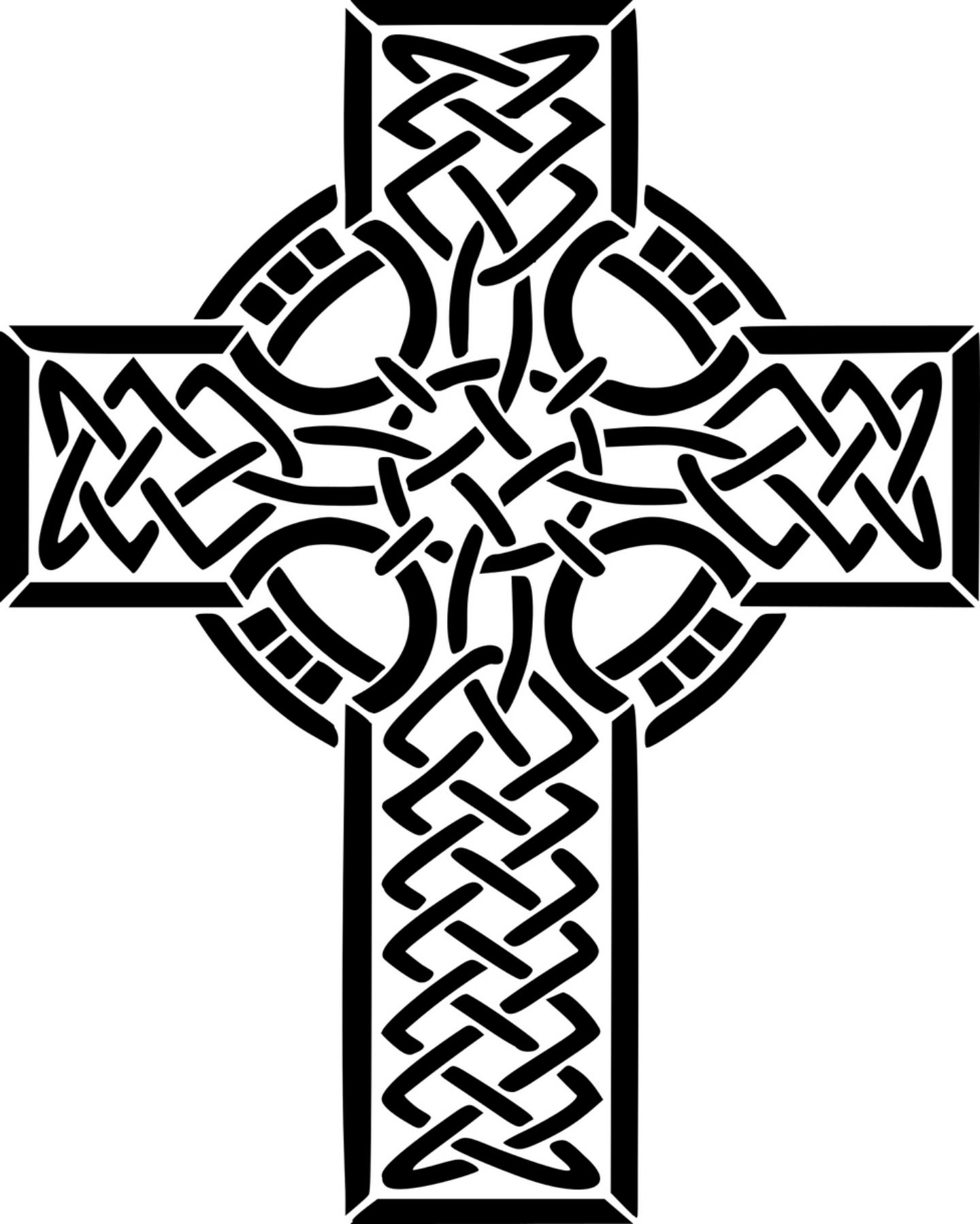 Free Celtic Cross Printable Coloring Page Holidays