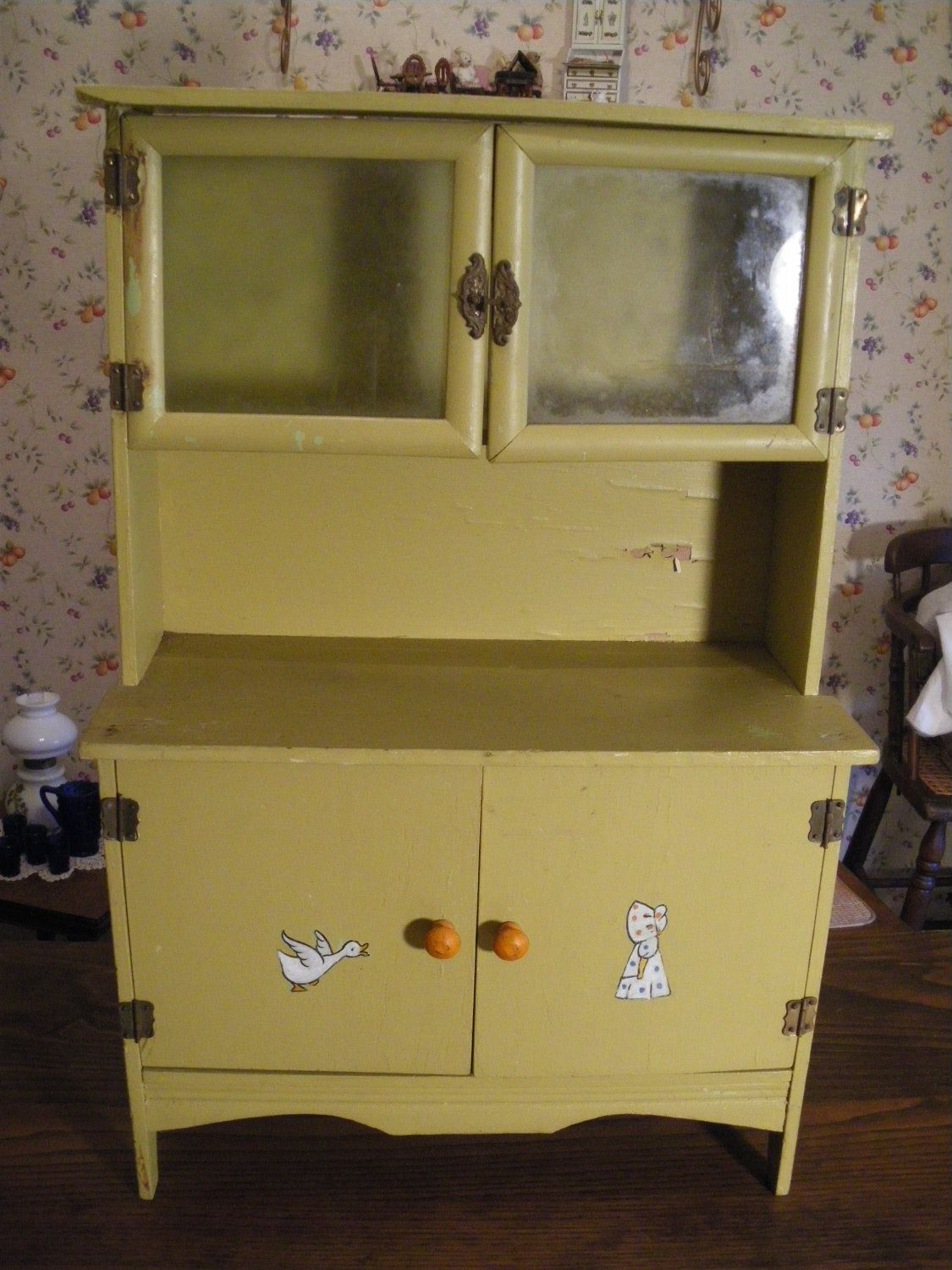 Half Price SALE Antique Child's Kitchen Cupboard