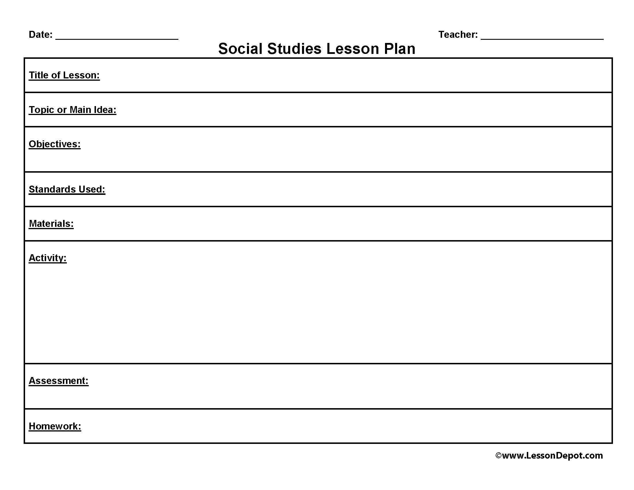 Template Lesson Plans. common core lesson plan template. basic ...