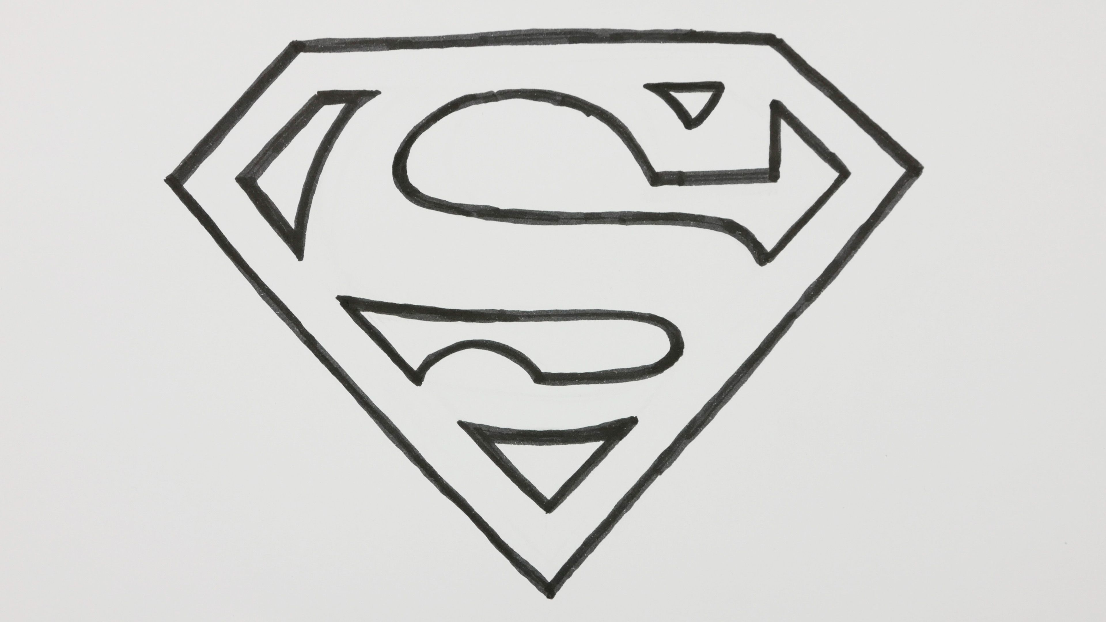 How To Draw A Superman Logo