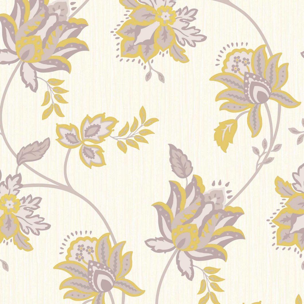 106332 Laura Ashley Source Homebase Wallpaper Grey Yellow Imagewallpapers Co