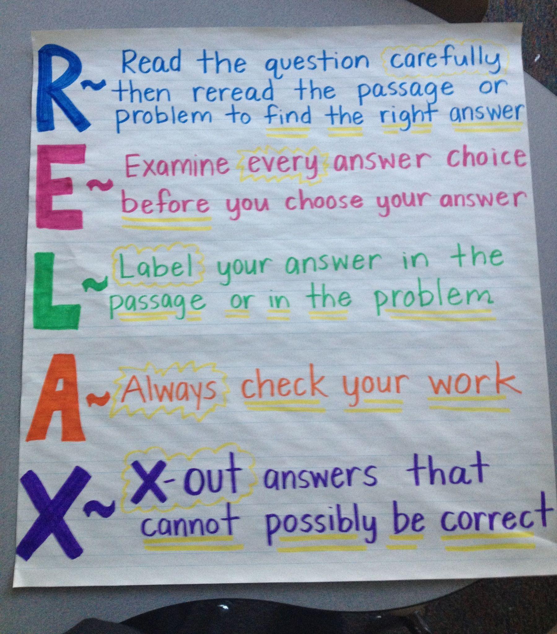 Claudia S Classroom Preparing For The Big Test