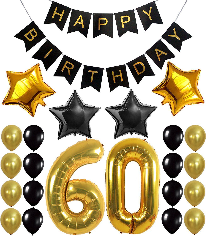 60th BIRTHDAY PARTY DECORATIONS KIT Happy