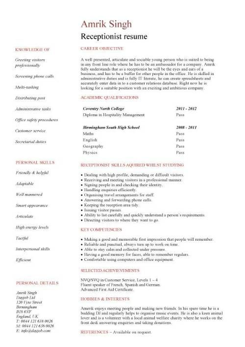 medical receptionist resume with no experience 907 - Medical Secretary Resume Sample
