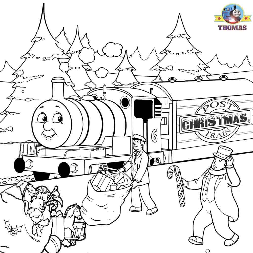 Thomas Percy Xmas Present Train Sheets To Color Christmas Coloring