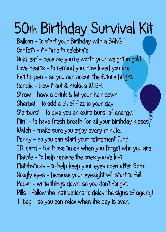 50TH BIRTHDAY SURVIVAL KIT BLUE Amazon.co.uk Kitchen