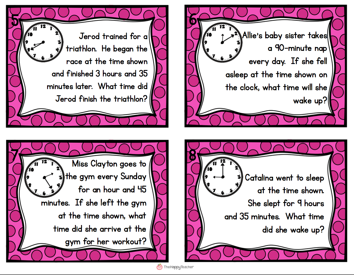 Elapsed Time Task Cards Get Students Up And Moving With
