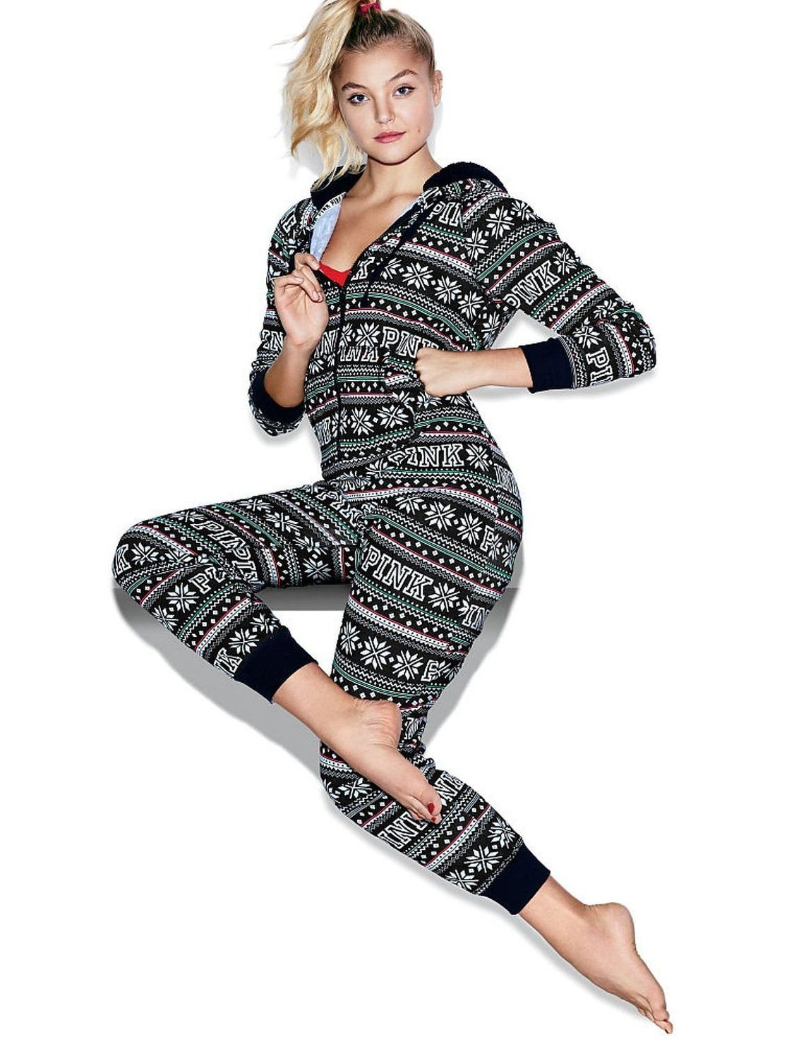 Victoria's Secret PINK Onesie Pajamas at Amazon Women's