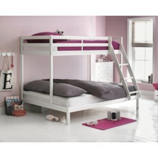 White Single And Double Bunk Bed With Bibby Mattress At Argos Co Uk