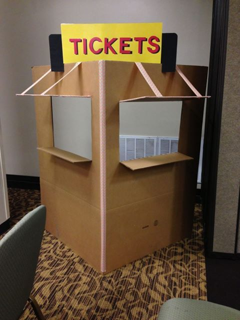 Ticket Booth Structure Polar Express Party Pinterest