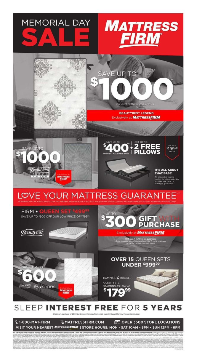 Mattress Firm Weekly Ad May 8 14 2017 Http Www