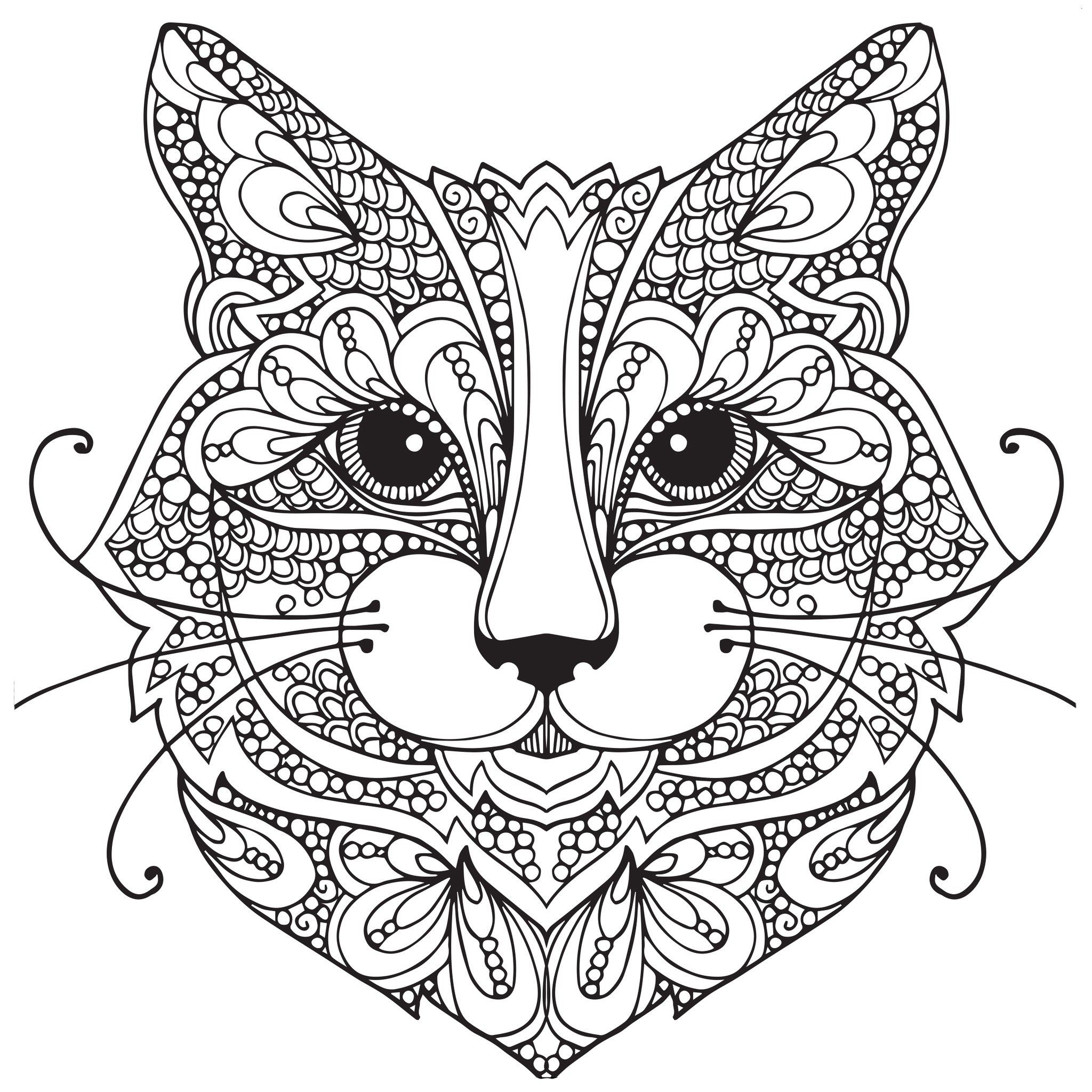 Adult Coloring Pages Cat 1 Coloring Pages Pinterest
