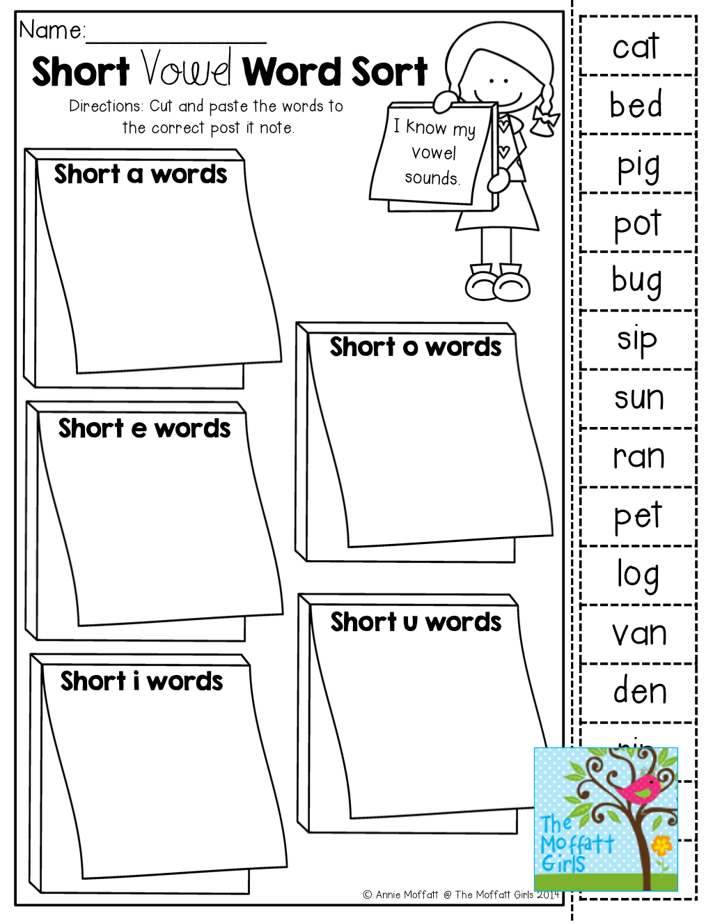 Short Vowel Word Sort And Tons Of Back To School Resources