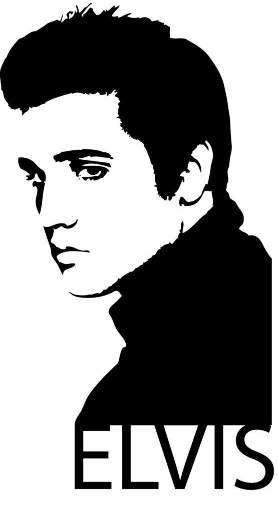 Download Wall Art Sticker Decal Transfer - Elvis Presley Face ...