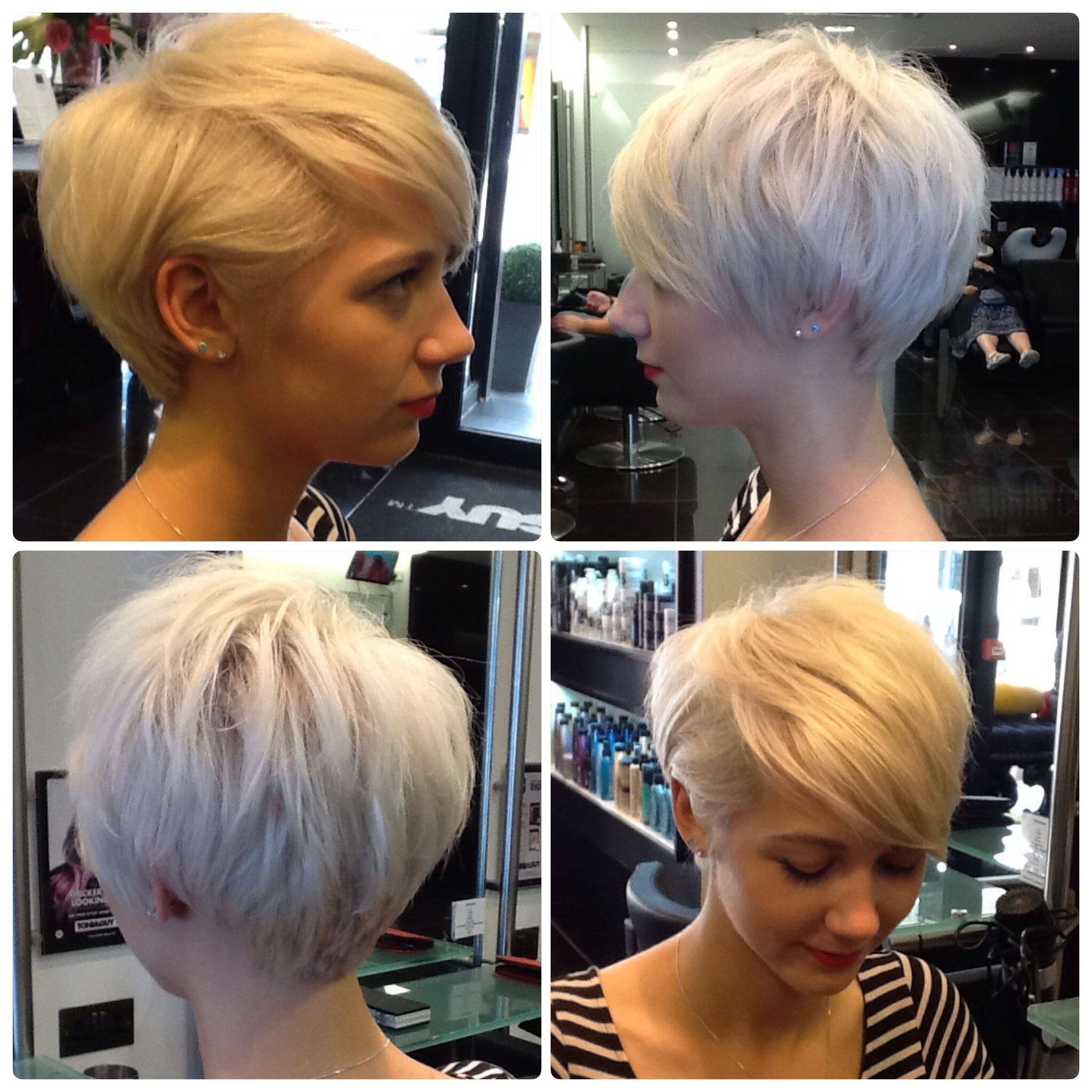 Short hair created by Tanya Long from TONIGUY Poole