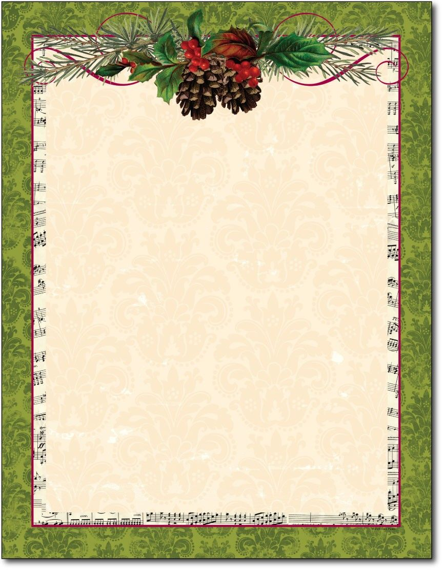 free printable christmas paper stationery Google Search