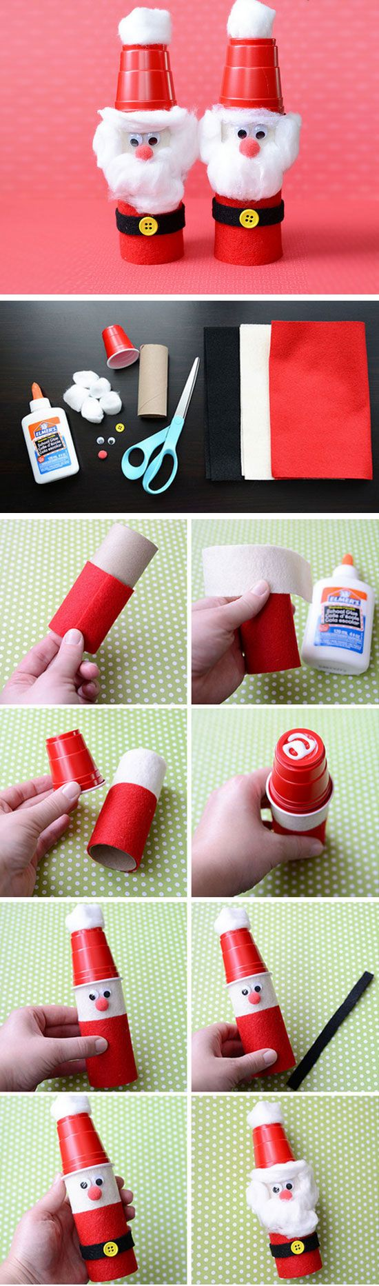 29 DIY Christmas Crafts for Kids to Make Plastic cups