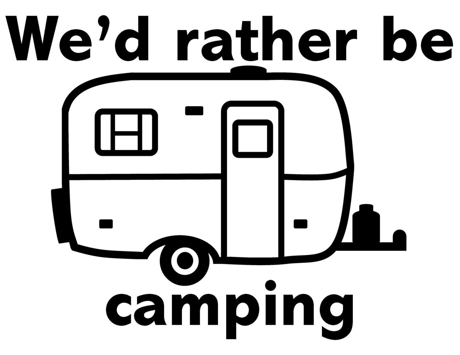 Scamp Trailer Style Vinyl Decal