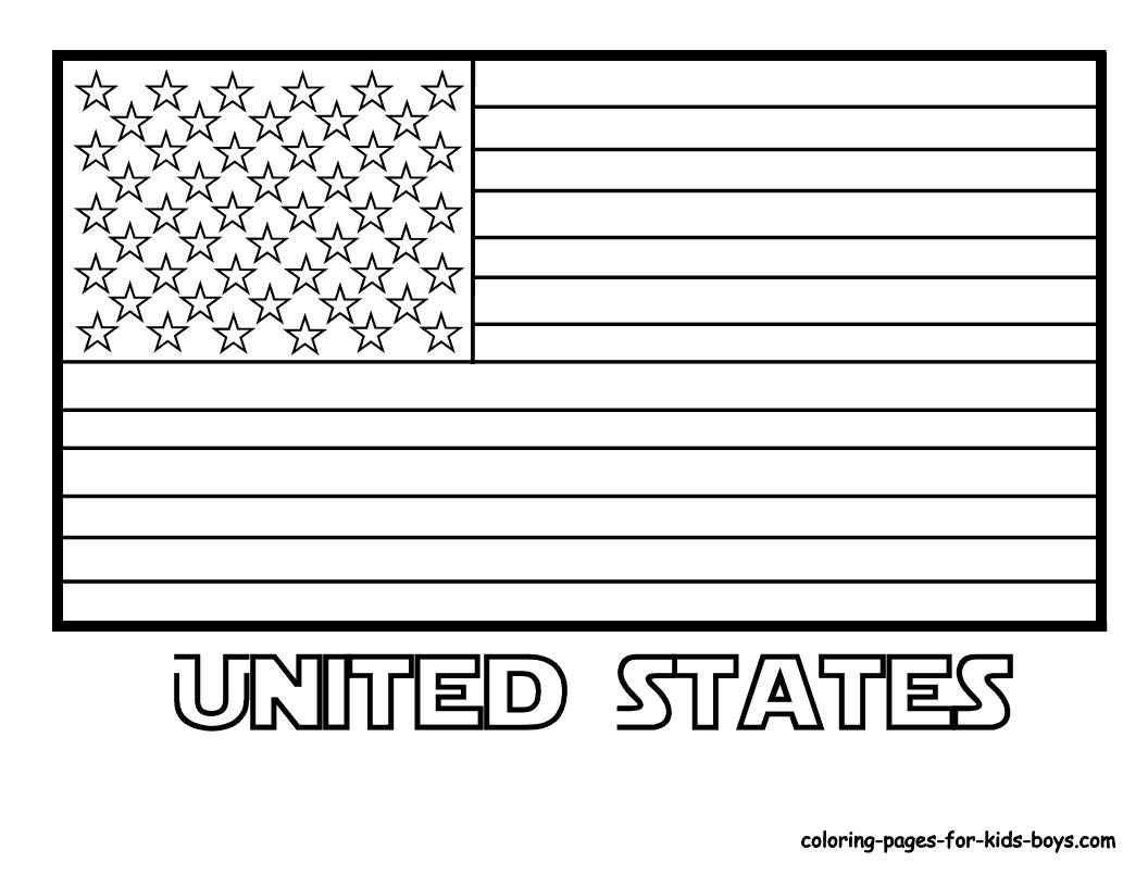 United States Flag Coloring Page