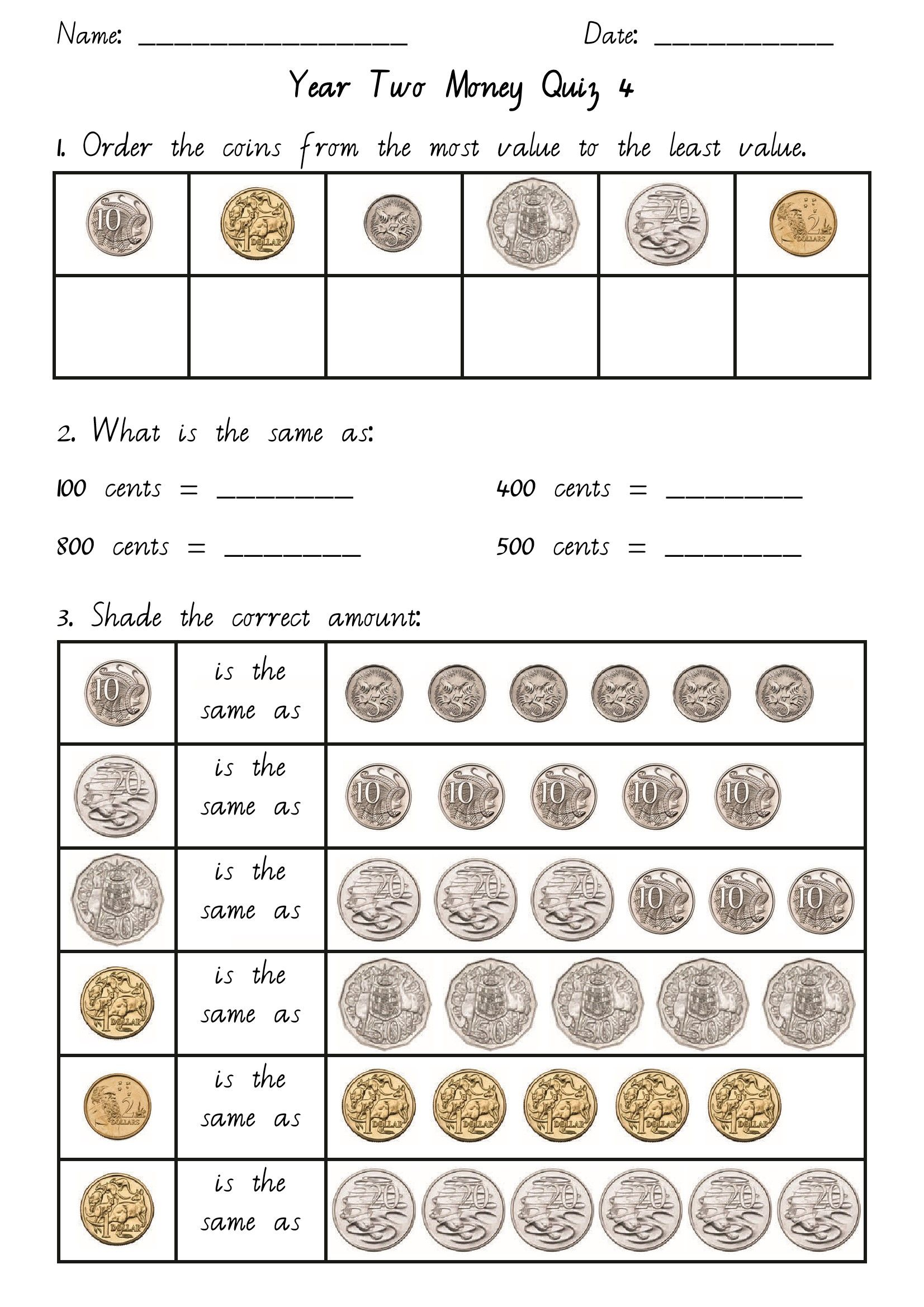 Math Coin Worksheets Uk Year